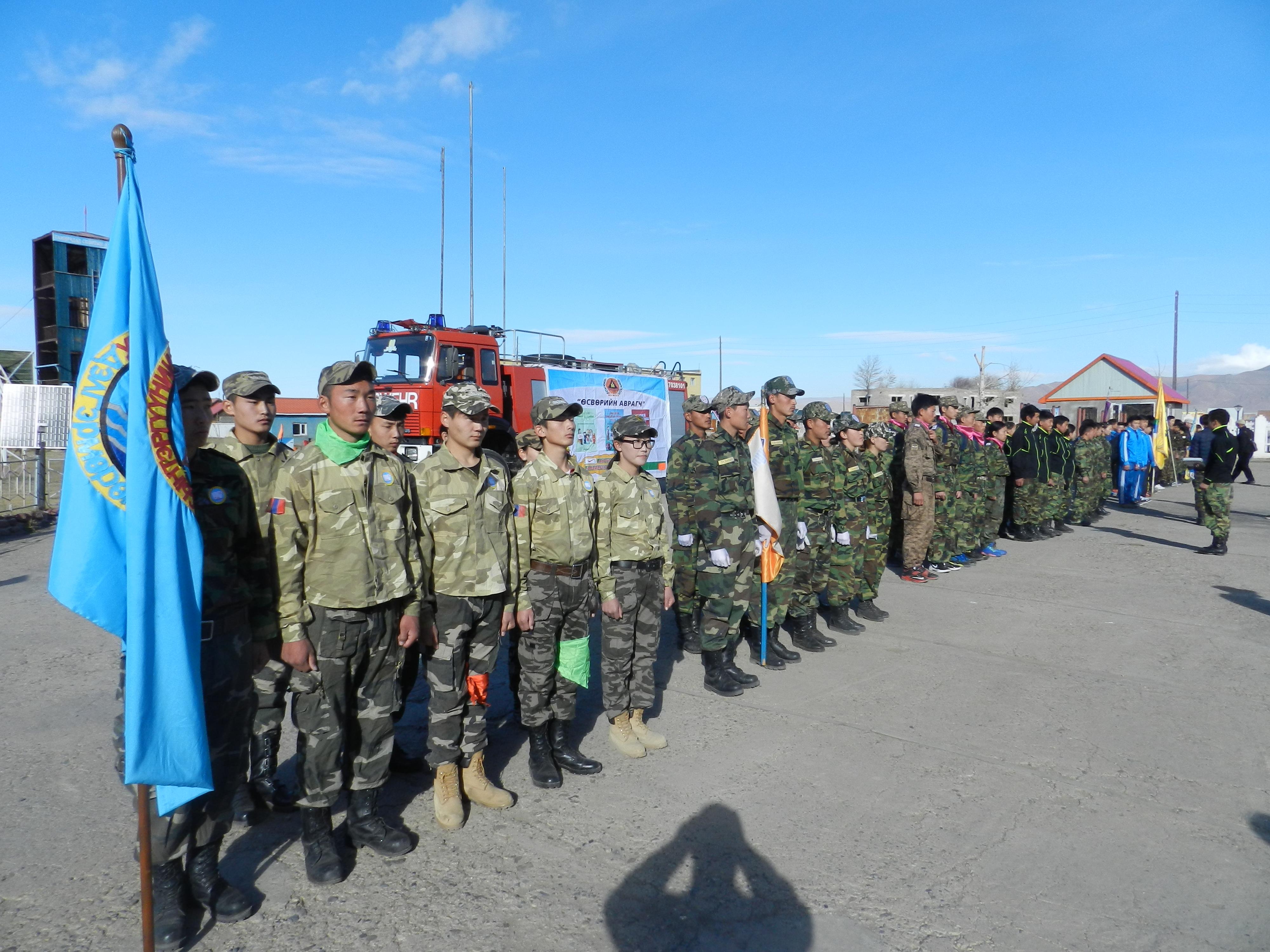 """Хөвсгөл аймгийн Мөрөн сумын ЕБС-иудын дунд """"Өсвөрийн аврагч"""" тэмцээн зохион байгууллаа."""